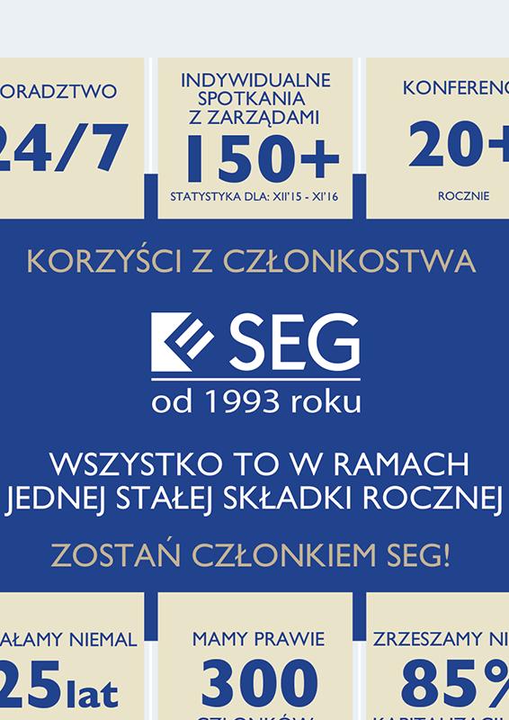 Infografika korzysci z czlonkostwa w SEG